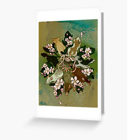 Dark Spring Rat King Greeting Card