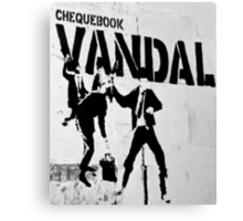 Chequebook Vandal  Canvas Print