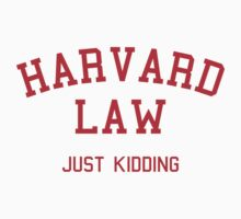 Harvard Law... Just kidding Kids Clothes
