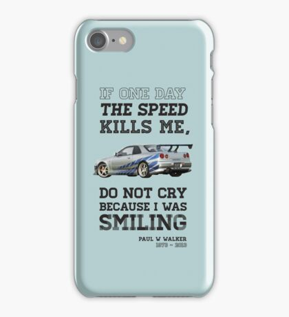 Paul Walker Tribute GTR - Halftone iPhone Case/Skin