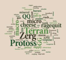 Starcraft Wordcloud - vespene gas by SCshirts