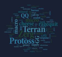 Starcraft Wordcloud - ocean floor by SCshirts