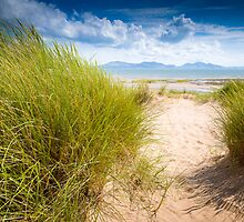 Newborough Beach, Sea and Mountains by Joe Wainwright