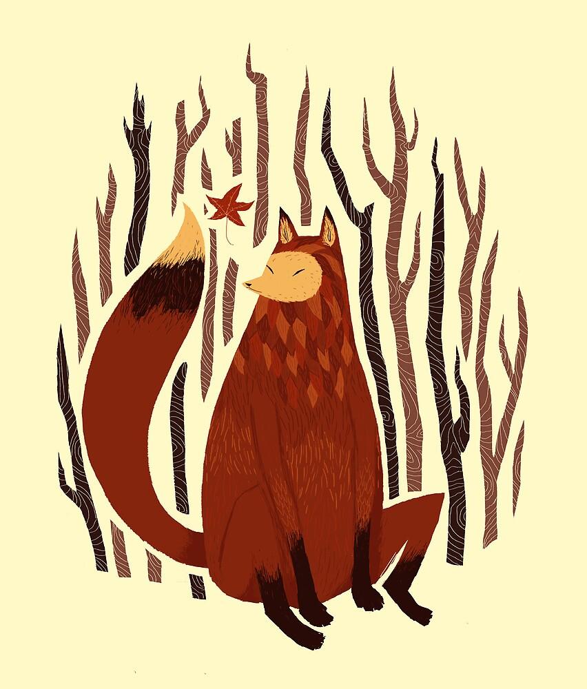 autumn fox by louros