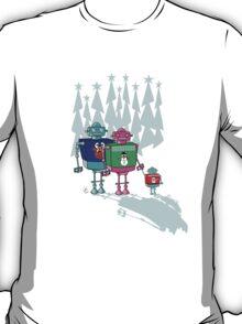 Robot Family Christmas T-Shirt