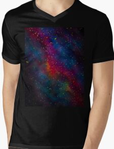watercolor galaxy  Mens V-Neck T-Shirt