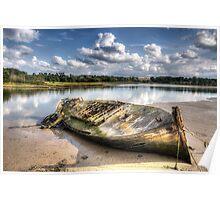 Old Boat, Woodbridge Poster