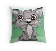 Wolf pup Throw Pillow