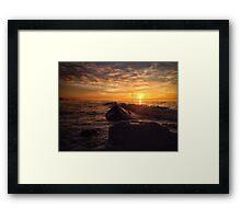 Orange Horizon Framed Print