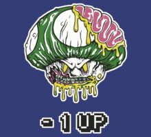 Zombie Mushroom -1 up T-shirt by RedZombie