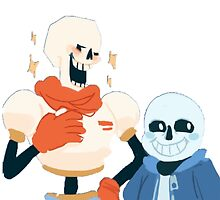 Papyrus and Sans by ChubbyCow