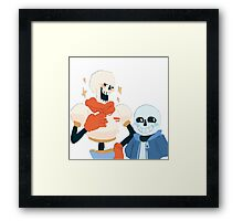 Papyrus and Sans Framed Print