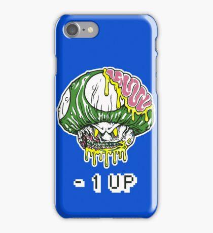 Zombie Mushroom -1 up T-shirt iPhone Case/Skin