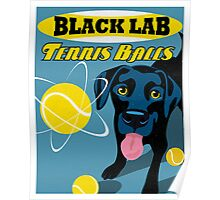 Labrador Retriever with Tennis Balls Retro Poster- original art Poster