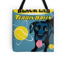 Labrador Retriever with Tennis Balls Retro Poster- original art Tote Bag