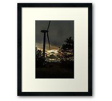 The golden sky Framed Print