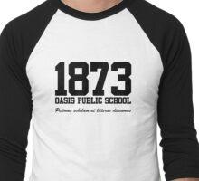 OASIS Public School #1873 - Black Men's Baseball ¾ T-Shirt
