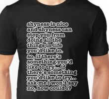 The Smiths Song Lyrics - shyness is nice... Unisex T-Shirt