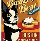 Boston Terrier Dog Baker retro poster design- original art  by DKMurphy