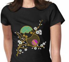 Blossom Kimono Fragment Womens Fitted T-Shirt