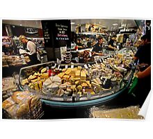 Cheese Stall, Adelaide Central Market Poster