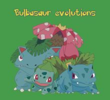 Bulbasaur evolutions by jonath1991