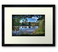 Through the Willows Framed Print