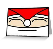 Santa's Square Head Horizontal Greeting Card