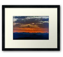 Seconds before sunrise Framed Print