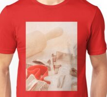 Vintage Tin Cookie Cutters Christmas Card Unisex T-Shirt