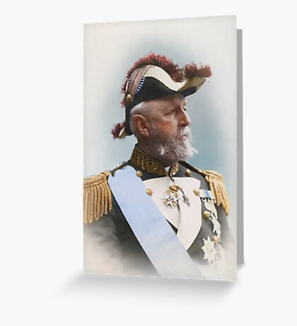 Oscar II, king of Sweden and Norway — ca 1880 Greeting Card
