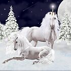 Christmas Unicorns by LoneAngel