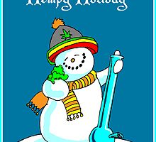 Hempy Holiday snowman by mouseman