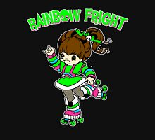 Rainbow Fright Womens Fitted T-Shirt
