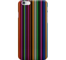 Geometric neon lights vertical pattern iPhone Case/Skin