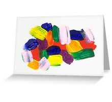 Paint Strokes Greeting Card