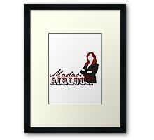 airlock lady Framed Print