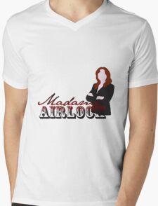 airlock lady Mens V-Neck T-Shirt