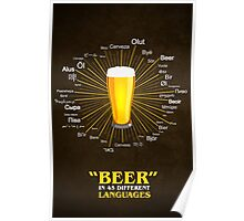 """""""Beer"""" in 45 different languages Poster"""