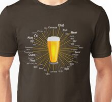 """""""Beer"""" in 45 different languages Unisex T-Shirt"""