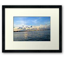 HDR Sky Landscape Framed Print