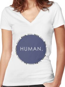 Human Women's Fitted V-Neck T-Shirt