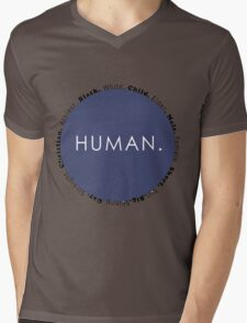 Human Mens V-Neck T-Shirt