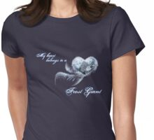 My heart belongs to a frost giant Womens Fitted T-Shirt