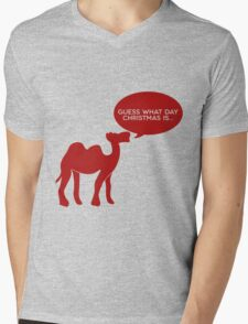 Guess What Day Christmas Is? Hump Day T-Shirt Mens V-Neck T-Shirt