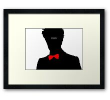 Eleventh Doctor 'Run' Framed Print