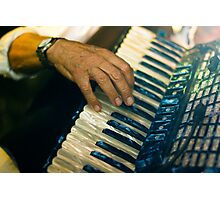 Piano Accordion player in Italy Photographic Print