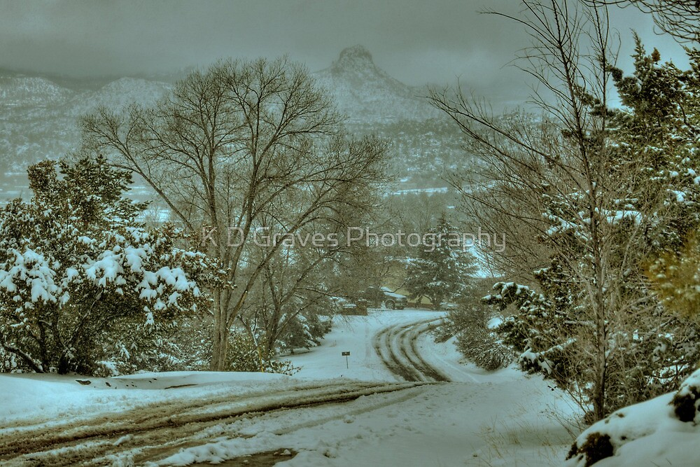 Winter Road by Diana Graves Photography