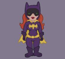 Adorable Purple Batgirl Kids Tee