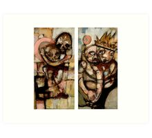 Time Diptych Art Print